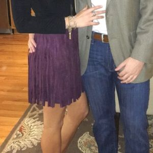 BB Dakota Skirts - BB Dakota suede fringe skirt